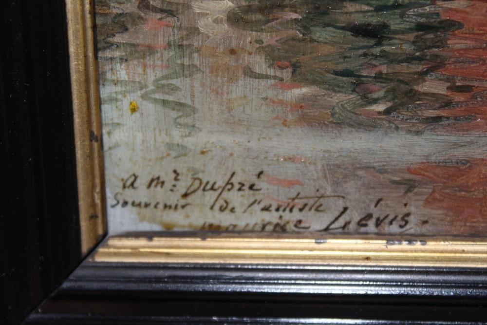 Maurice levis huile sur toile vue d 39 un bassin d for Toile a bassin