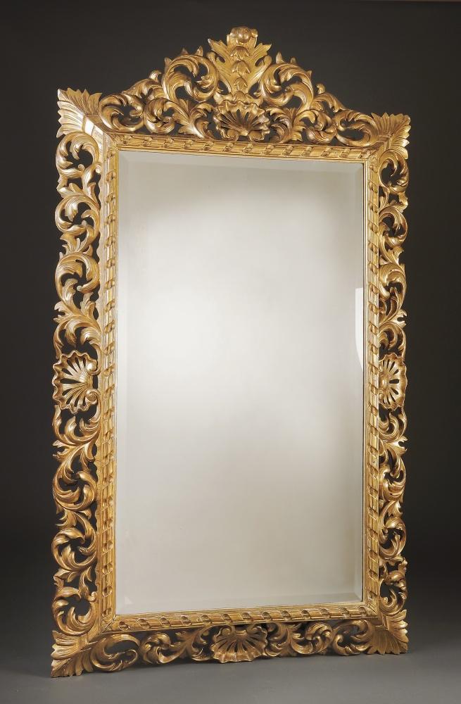 Miroir bois italien xix me antiquaire christophe for Antiquaire lille meuble