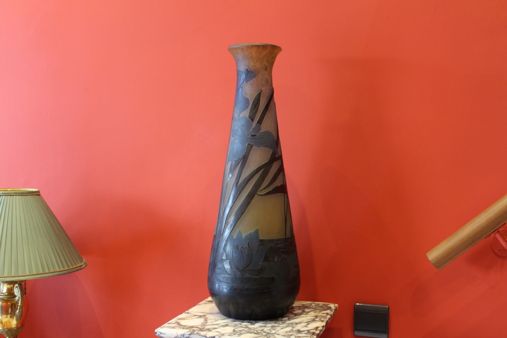 Gall 233 Important Vase Aux Iris Et N 233 Nuphars Antiquaire Christophe Lachaux Rue De S 232 Vres 224